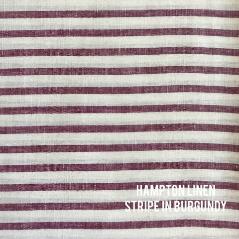 Hampton Linen Stripe in Burgundy