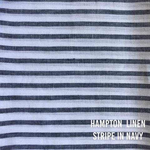 Hampton Linen Stripe in Navy