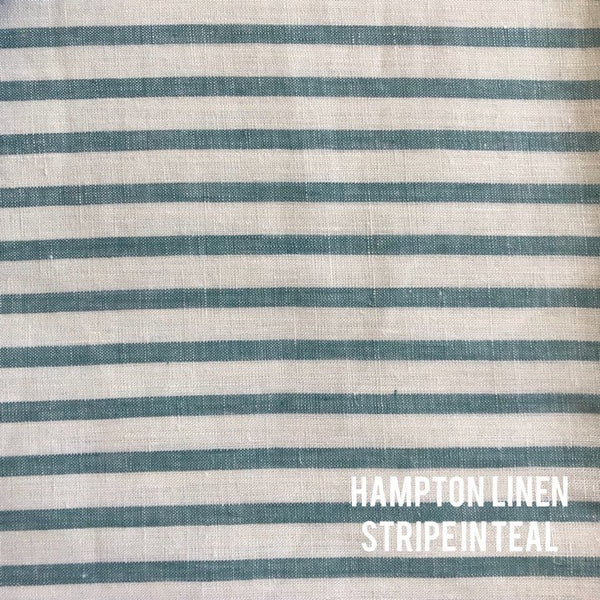 Hampton Linen Stripe in Teal
