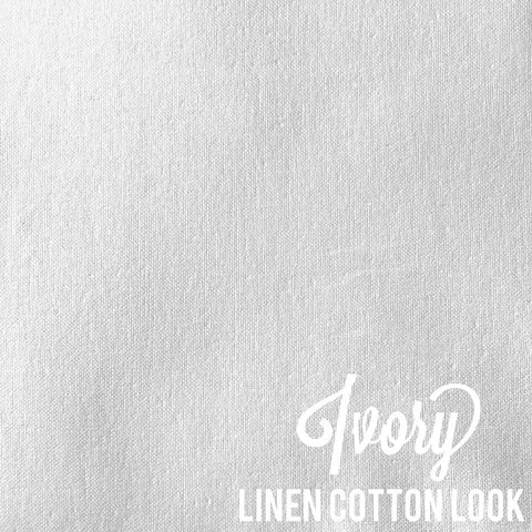 Ivory - Linen Look Cotton