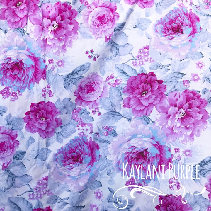 Kaylani Purple - Large Floral
