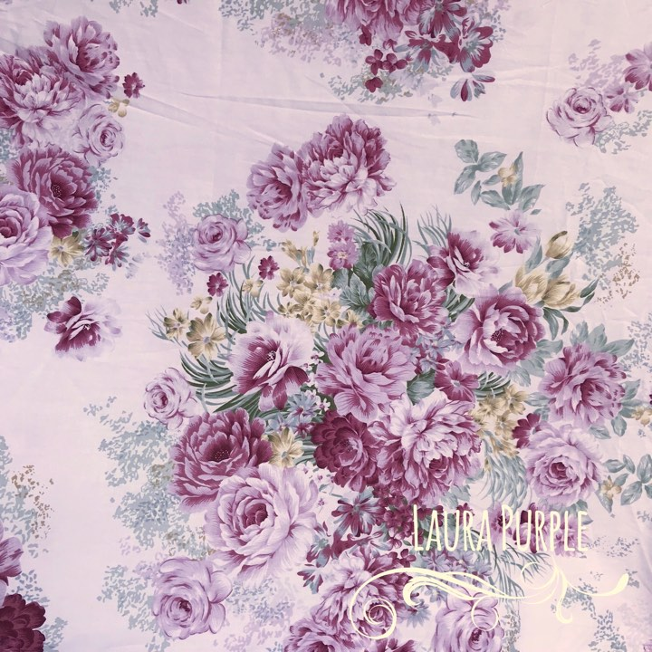 Laura Purple - Large Floral