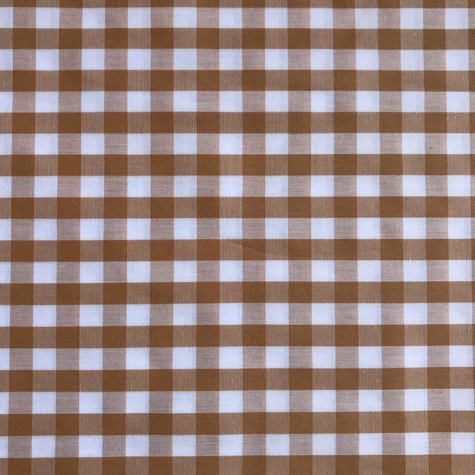 Gingham Beige/White 1 centimeter checks