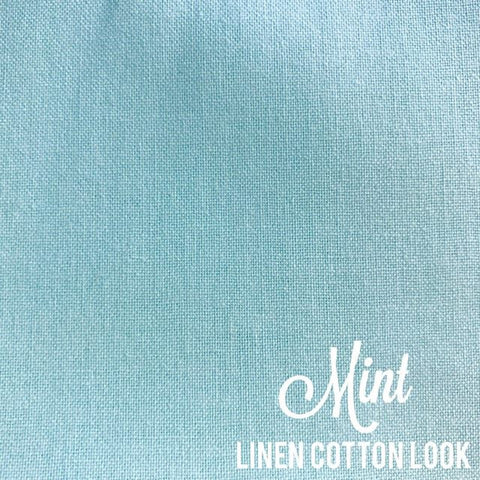 Mint - Linen Look Cotton