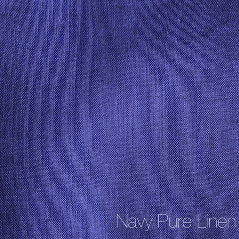 Navy/Purple - Pure Linen