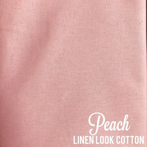 Peach - Linen Look Cotton