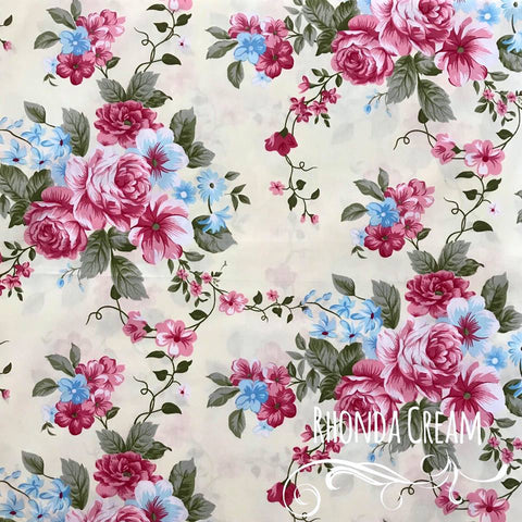Rhonda Cream - Large Floral