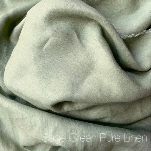 Sage Green - Pure Linen