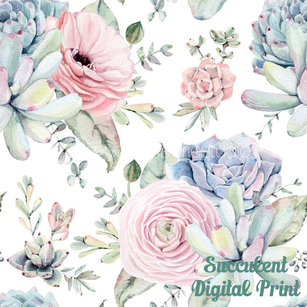 Succulent Digital Print - PRE ORDER OPENS FROM TUE 9th - 16th OCTOBER CLOSE
