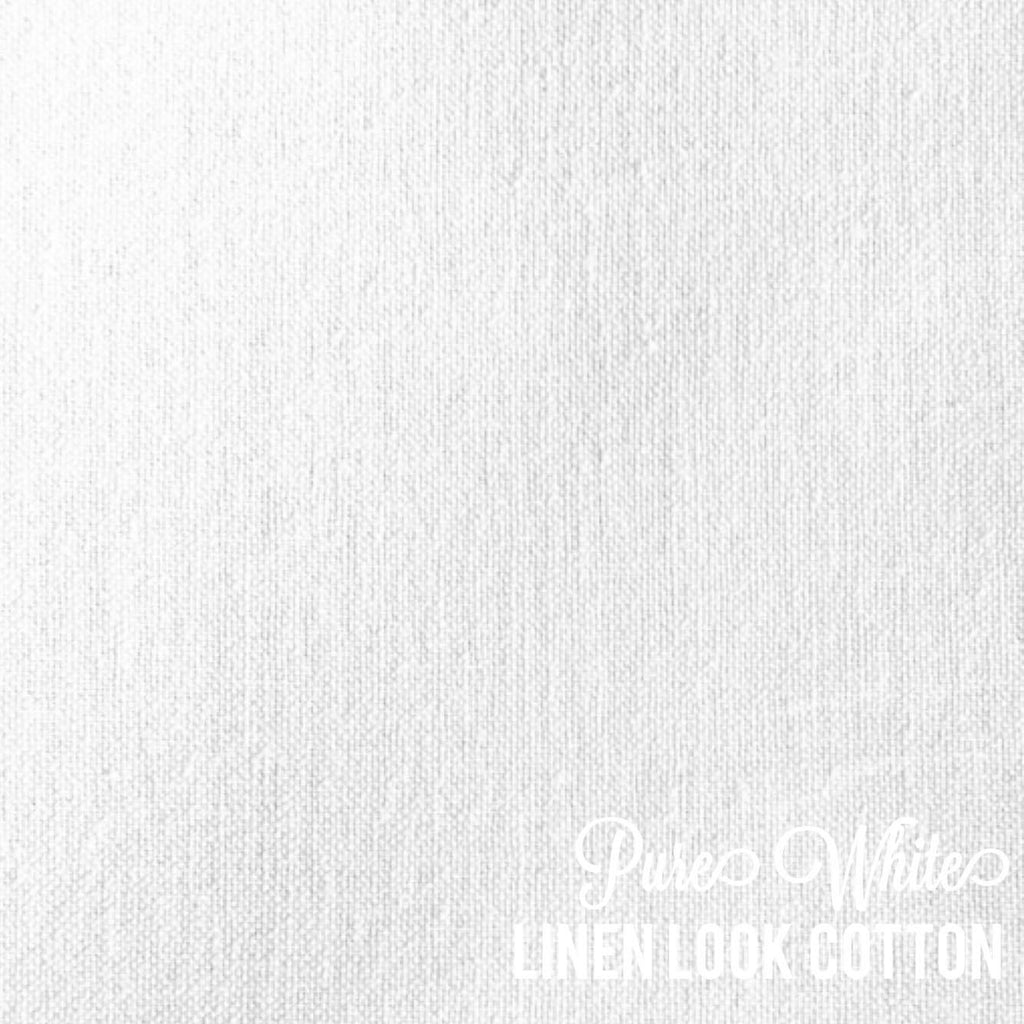 Pure White - Linen Look Cotton