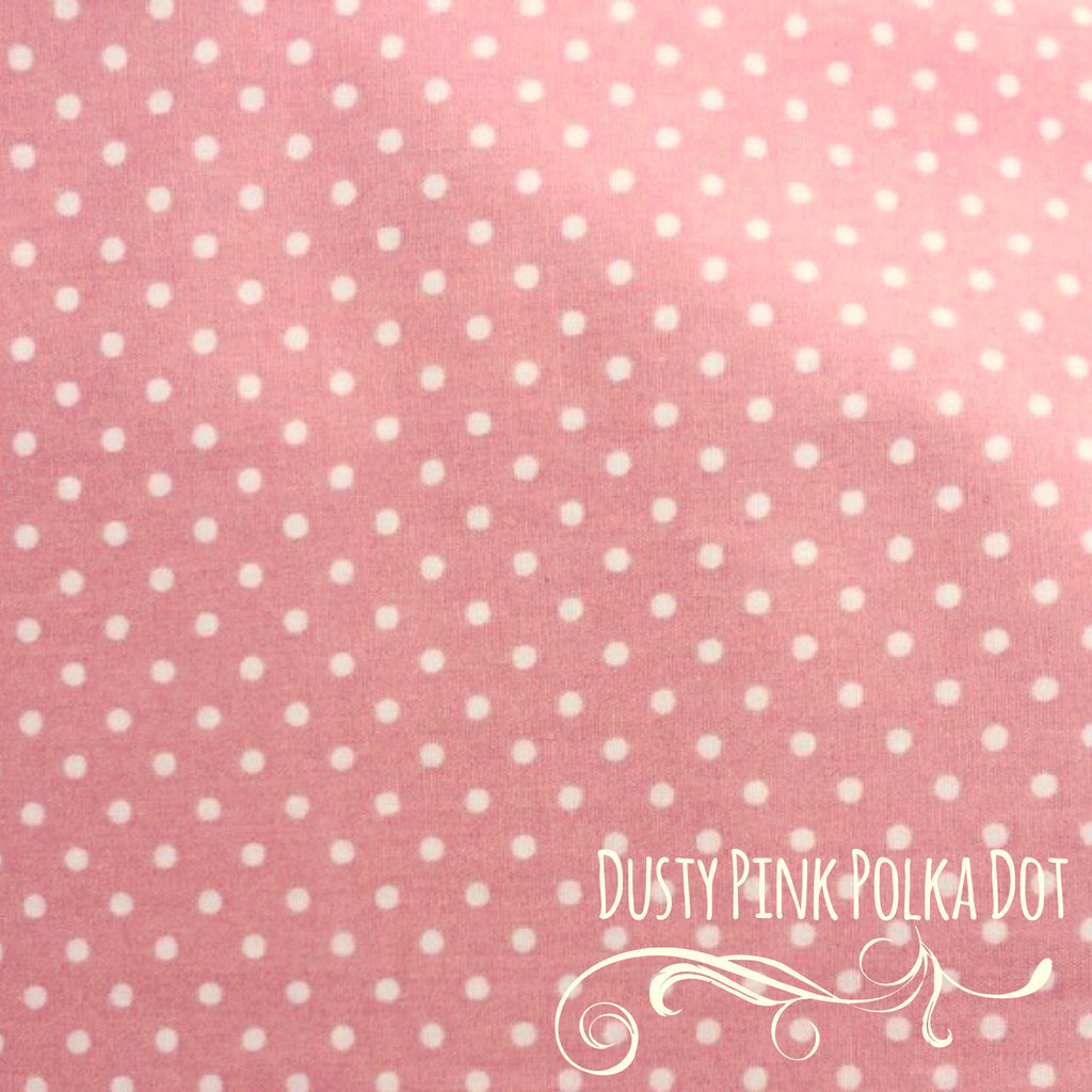 Dusty Pink Polka Dot