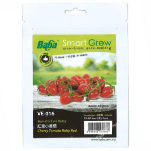 BABA Seed VE-016 Cherry Tomato Ruby Red