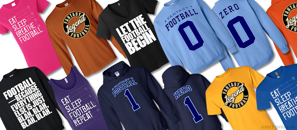 Football Collection Casual Apparel by DV8s.com.