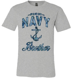 Proud Navy Brother Unisex T-Shirt (Camo)