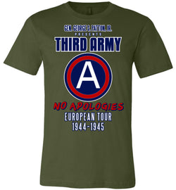 George S. Patton 3rd Army Unisex T-Shirt - by DV8s.com