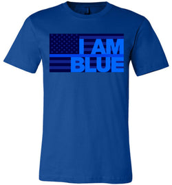 I AM BLUE Canvas Unisex T-Shirt - by DV8s.com
