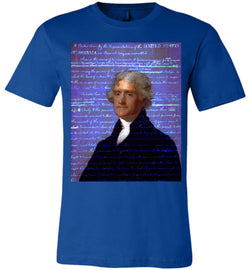 Jefferson's Declaration of Independence Canvas Unisex T-Shirt - by DV8s.com