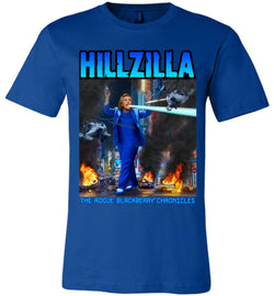 Anti-Hillary Hillzilla Canvas Unisex T-Shirt - by DV8s.com