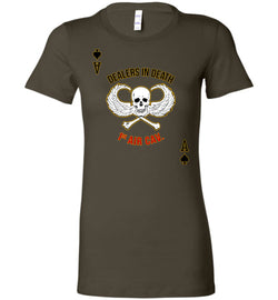 Dealers in Death - 1st Air Cav Army Bella Ladies T-Shirt - by DV8s.com