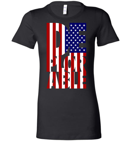 Deplorable Anti-Hillary Bella Ladies Favorite Tee - by DV8s.com