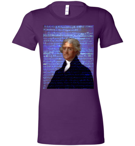 Jefferson's Declaration of Independence Bella Ladies Favorite Tee - by DV8s.com