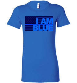 I AM BLUE Bella Ladies Tee - by DV8s.com