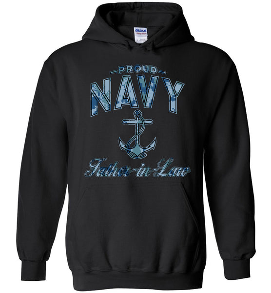 Proud Navy Father-in-Law Hoodie (Camo)