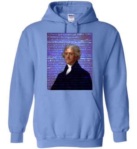 Jefferson's Declaration of Independence Gildan Heavy Blend Hoodie - by DV8s.com