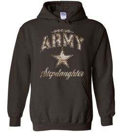 Proud Army Stepdaughter Camo Hoodie