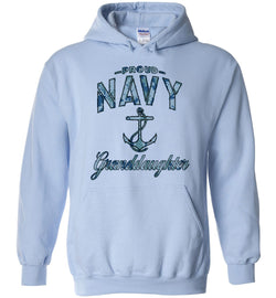 Proud Navy Granddaughter Hoodie (Camo)