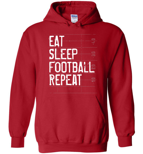 Eat Sleep Football Repeat Hoodie