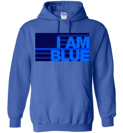 I AM BLUE Gildan Heavy Blend Hoodie - by DV8s.com
