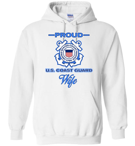Proud U.S. Coast Guard Wife Hoodie