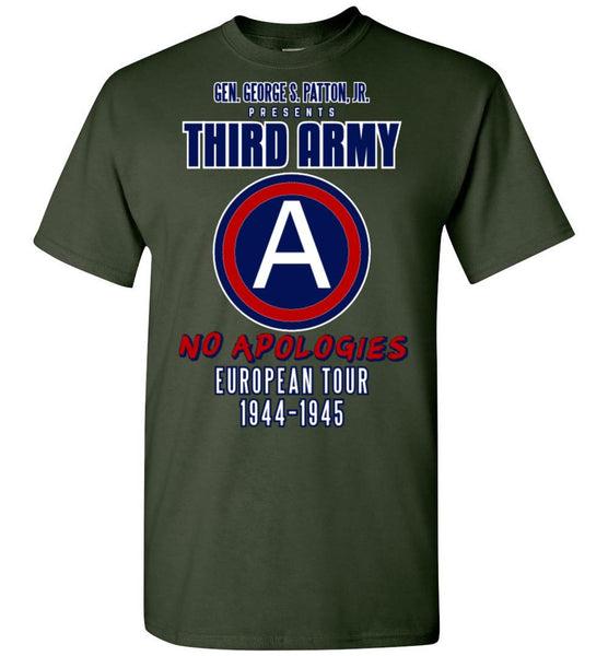 George S. Patton 3rd Army Gildan T-Shirt - by DV8s.com