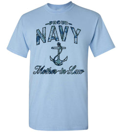 Proud Navy Mother-in-Law T-Shirt (Camo)