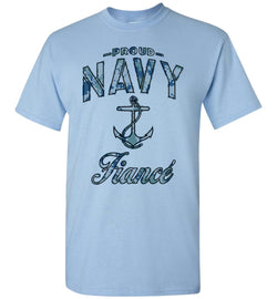 Proud Navy Fiance T-Shirt (Camo)