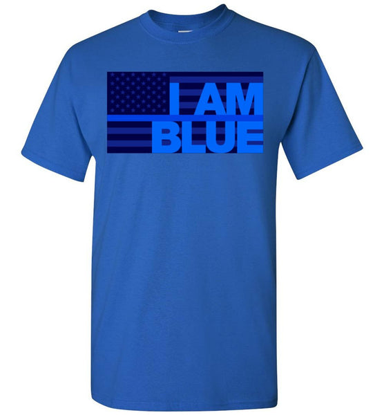 I AM BLUE Gildan T-Shirt - by DV8s.com