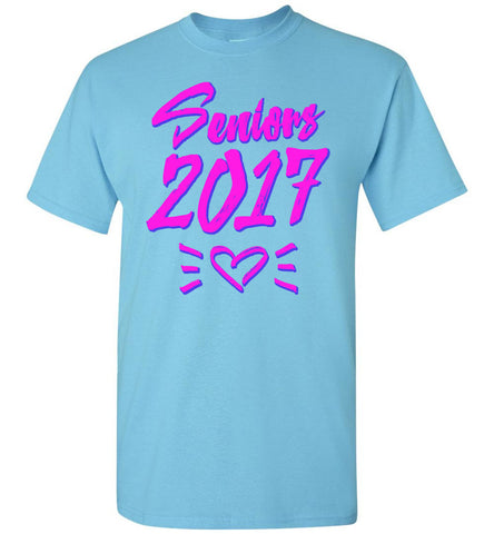 Seniors 2017 Heart T-Shirt