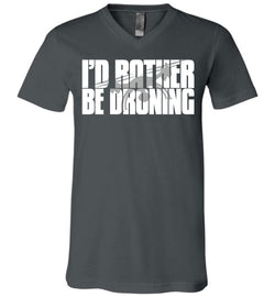 I'd Rather Be Droning Unisex V-Neck T-Shirt