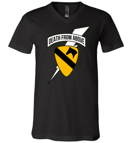 Death from Above - 1st Air Cav Army Unisex V-Neck T-Shirt