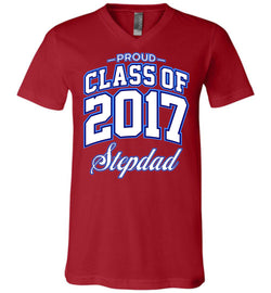 Proud Class of 2017 Stepdad Unisex V-Neck T-Shirt