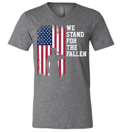 We Stand for the Fallen Unisex V-Neck T-Shirt
