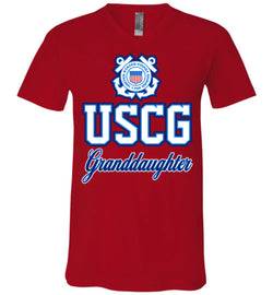 USCG Coast Guard Granddaughter Unisex V-Neck T-Shirt