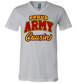 Proud Army Cousin Unisex V-Neck T-Shirt