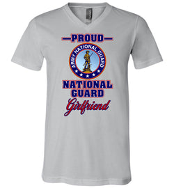 Proud National Guard Girlfriend Unisex V-Neck T-Shirt