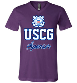 USCG Coast Guard Sponsor Unisex V-Neck T-Shirt