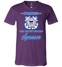 Proud U.S. Coast Guard Sponsor Unisex V-Neck T-Shirt