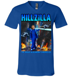 Anti-Hillary Hillzilla Canvas Unisex V-Neck T-Shirt - by DV8s.com