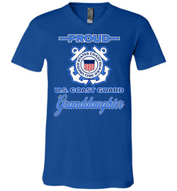 Proud U.S. Coast Guard Granddaughter Unisex V-Neck T-Shirt