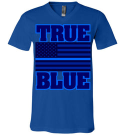 TRUE BLUE Unisex V-Neck T-Shirt